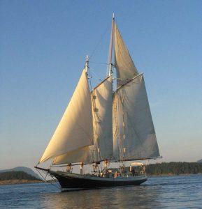 Spike Africa under full sail