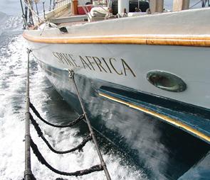 wooden schooner Spike Africa