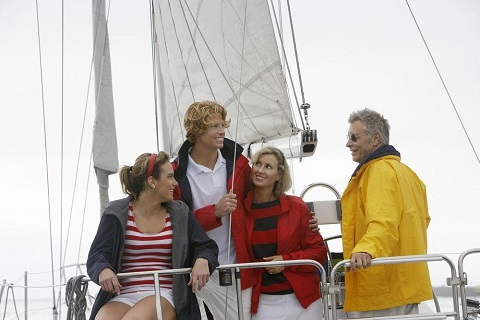 Family Members Enjoy a Leisurely Reunion on a Private Boat Charter